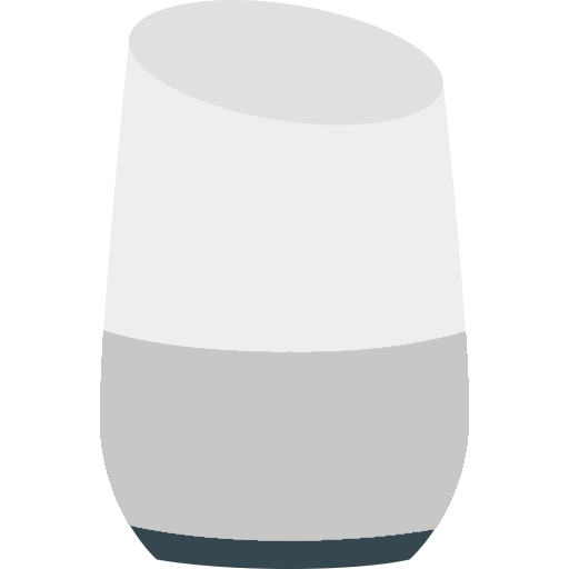An illustration of an activated Google Home sitting on the window sill